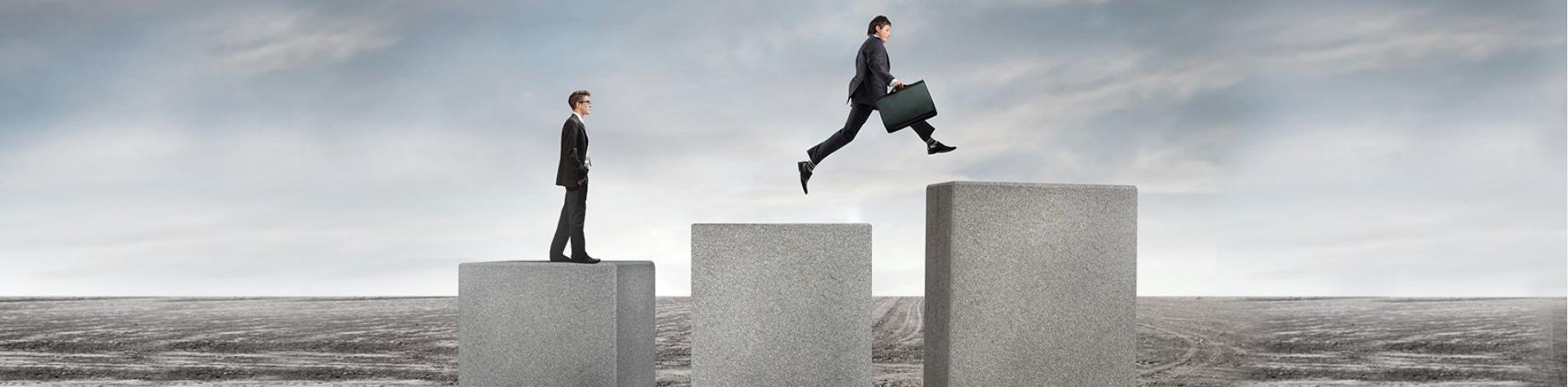 Uomini business crescita